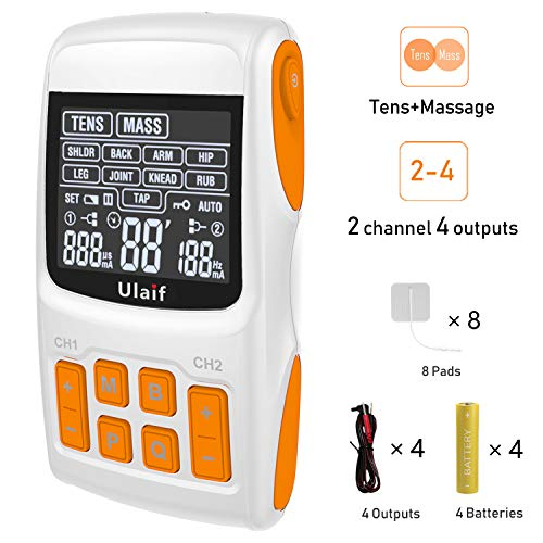 - Tens Unit+Massager Combination,2018 New FDA Approved,Best Professional Portable 21 Modes Electronic Pulse Massager, Muscle Stimulator for Pain Relief,2-4 Channels Output,8 Long Life Pads