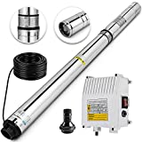 Happybuy Deep Well Submersible Pump 3HP 220V Submersible Well Pump 630ft 42GPM Stainless Steel Deep Well Pump for Industrial and Home Use