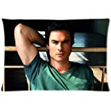 Custom Vampire Diaries Damon Salvatore Ian Somerhalder Zippered Pillow Case 20x30 Inches(Two Sides)