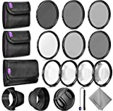 67MM Altura Photo Filter Kit (UV-CPL-ND4) + ND 2 4 8 + Macro Close Up Set for Canon Nikon