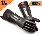 RAPICCA Griller BBQ Heat Resistant Insulated Cooking Gloves for Barbecue/Grill/Smoker/Fry Turkey/Pot Holder/Oven mitt/Baking