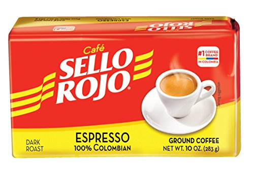 Cafe Sello Rojo Espresso | Best selling coffee brand in Colombia | 100% Colombian dark roast ground arabica coffee | Premium Cuban Expresso Coffee type | Freshly vacuum packed in bricks(Brick)