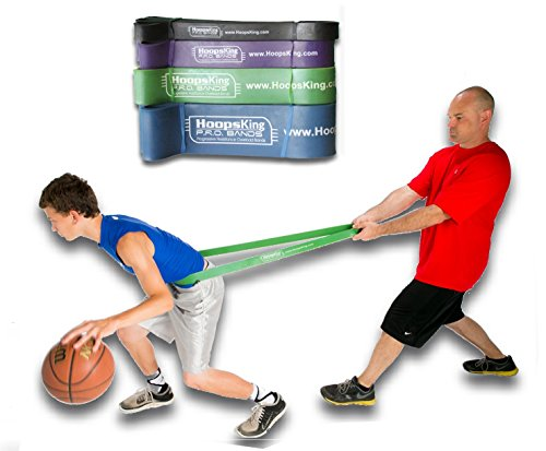 HoopsKing P.R.O. Bands for Basketball Resistance Bands Training (Single Band - 4 Levels to Choose from | Mix & Match as Needed) 41