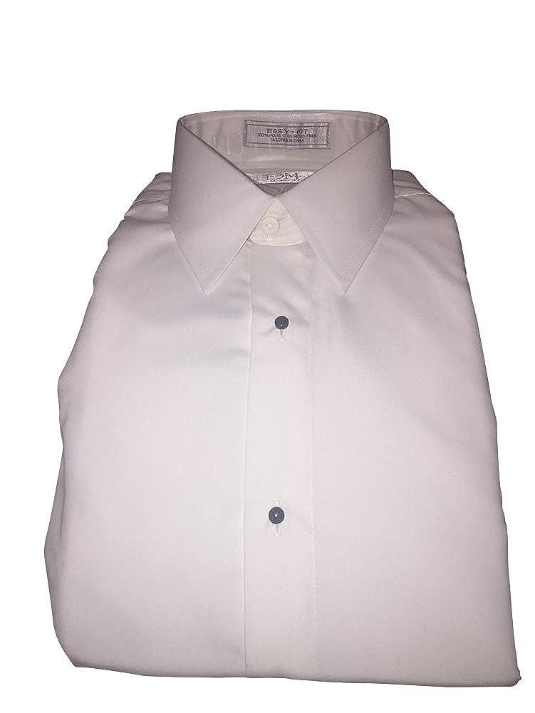 Devin Michaels Medium Cream Colored Microfiber Super Soft Formal Shirt French Cuff