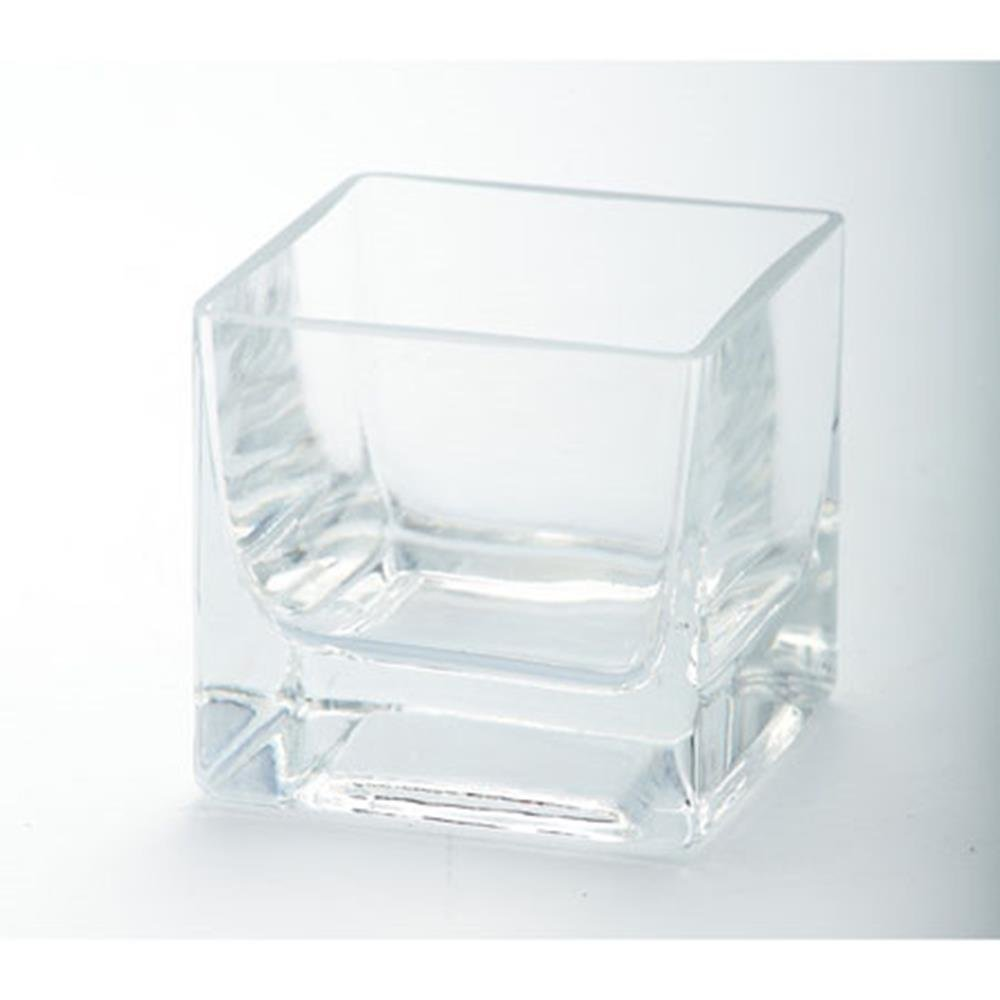 Diamond Star Glass 84802C 3 Inch Clear Square Cup