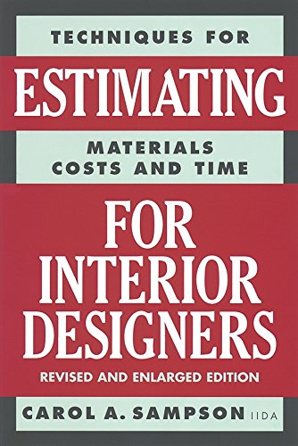 Read Online Techniques for Estimating Materials, Costs, and Time for Interior Designers pdf epub