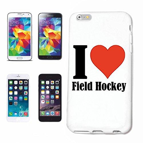 """Handyhülle iPhone 5 / 5S """"I Love Field Hockey"""" Hardcase Schutzhülle Handycover Smart Cover für Apple iPhone … in Weiß … Schlank und schön, das ist unser HardCase. Das Case wird mit einem Klick auf dei"""