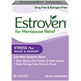 Estroven Stress Plus Mood and Memory formulated for Menopause Symptom Relief* – Helps Reduce Hot Flashes and Night Sweats* – Helps Manage Daily Stress and Mood* – 30 Caplets