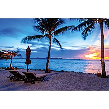 Amazon Photographic Wallpaper Barbados Mural Decoration Twilight Sunset Beach Wall