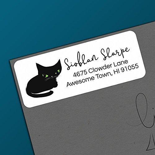 amazon com black cat return address labels personalized