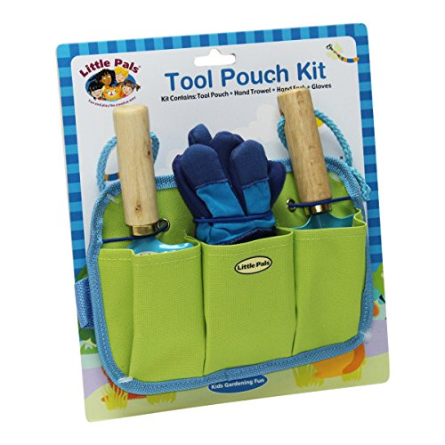 Tierra Garden 7-LP441 Little Pals Kids Tool Pouch Kit, Blue