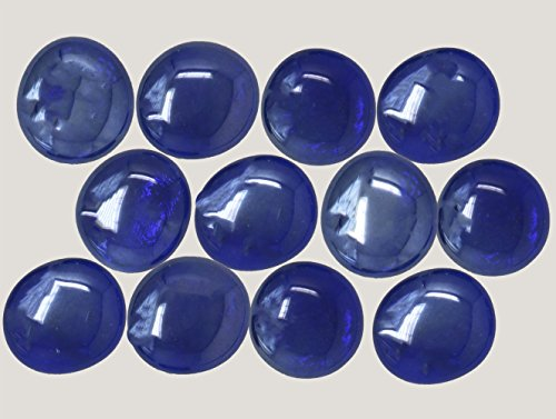 Classic Glass Gems for Vase Filler, Table Scatter and Beautiful Accents (28-32mm, Cobalt Blue) ()