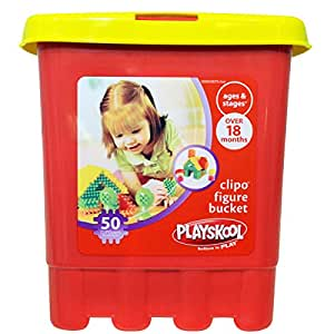 Playskool Clipo Figure 50 Piece Bucket by Playskool