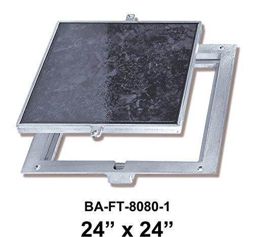 24'' x 24'' Removeable Floor Door - 1'' Recess for Ceramic Tile / Concrete by Best Access Doors