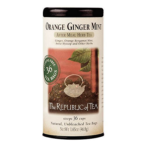 The Republic of Tea, Orange Ginger Mint Tea, 36-Count - Herb Bergamot
