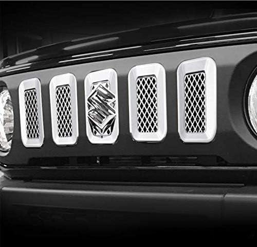 Vpcar Jimny Housse de Grille de Grille Avant en ABS 7 pi/èces pour Suzuki Jimny JB64//JB74 2019-2020