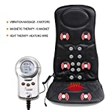 VIKTOR JURGEN 6-Motor Vibration Massage Seat Cushion For Car Back Massager With Heat