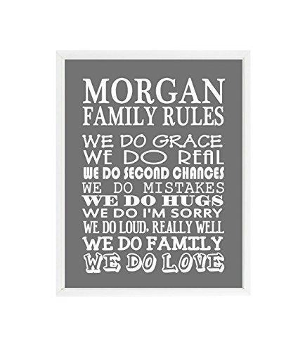 Amazon.com: Family Rules Wall Art, Personalized Family Gift, Custom ...