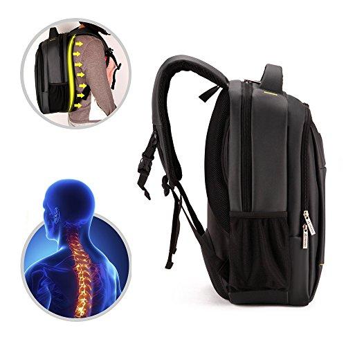 Männer Frauen Große Kapazität Laptop Backpacks Rucksäcke 16 Aktentasche Notebook Computer Rucksack Daypacks Schultaschen Reisetasche Wanderntasche (Schwarz) Schwarz
