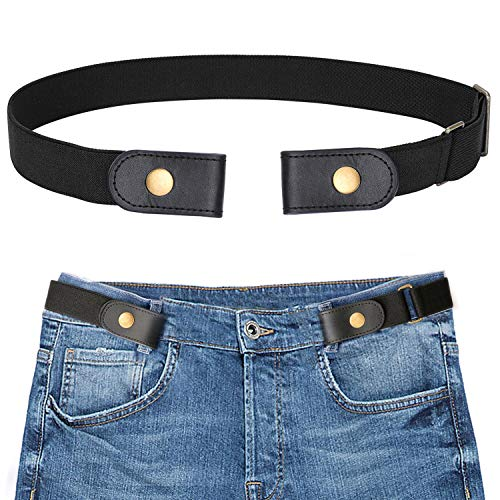 - SANSTHS Buckle-Free Elastic Women Belt for Jeans Without Buckle, Comfortable Invisible Belt No Bulge No Hassle