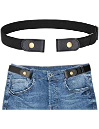 c08405412 Buckle-free Elastic Women Belt for Jeans without Buckle, SANSTHS  Comfortable Invisible Belt No