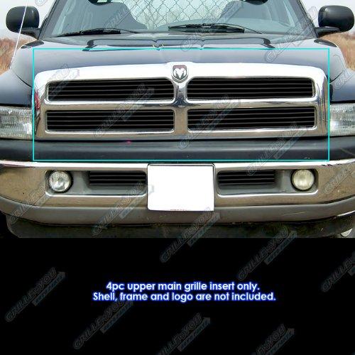 1998 Black Billet Grille (1994-2001 Dodge Ram Black Billet Grille Grill Insert)