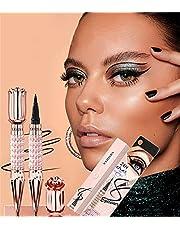 Shiny Diamond Color Liquid Eyeliner Waterproof Magic Eyeliner Pen, Diamond Self-adhesive Eyeliner Pen, Black Natural Long Lasting Smudge-proof Eye Makeup Tool