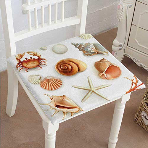 - Mikihome Cushion New Marine Aquatic World Elements Seashells Pearls and Crabs Muscles Wild Sea Life Image Indoor Garden Patio Home Kitchen Office Chair Pads Seat Pads 26