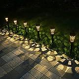 newvivid Solar Lights Outdoor Garden Solar Lamps