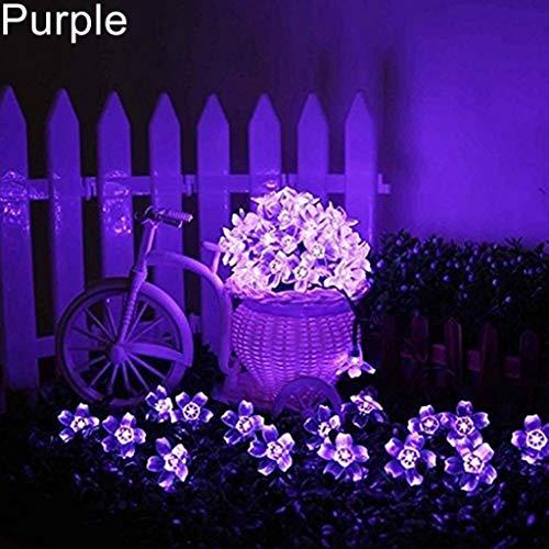 - LOadSEcr's Decor Lights, 7m Outdoor 50 LED Cherry Blossom Solar Night Fairy Lights Halloween Christmas Wedding Party Home Decoration Fluorescent Lamp - Purple