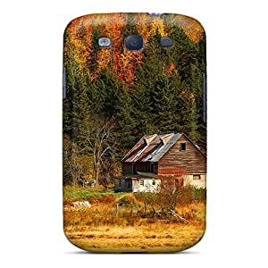 New Arrival Case Cover With ZBvSdMM4987lkcji Design For Galaxy S3- Hut In Autumn Mountain