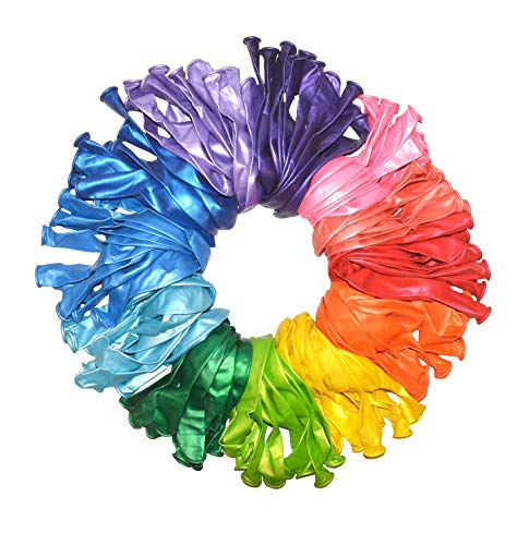 120 Pack Perfect Settings Premium 12 inch Assorted Metallic Party Balloons Birthday Anniversary Wedding Reveal Shower ()