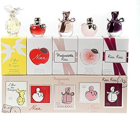 Nina Ricci miniatura señoras Perfume estuche regalo de Navidad 5 piezas: Amazon.es: Belleza