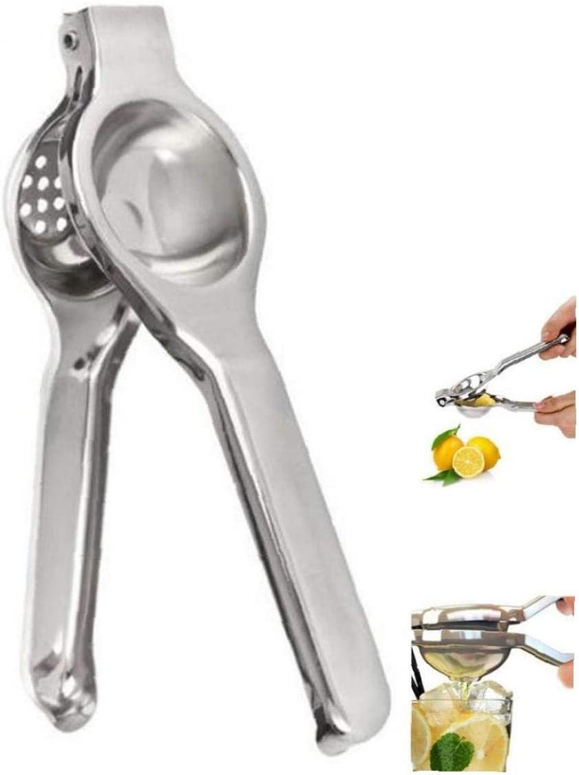 Lemon Squeezer Stainless Steel Lime Squeezers Metal Manual Orange Juicer Press with Heavy Duty Large Bowl