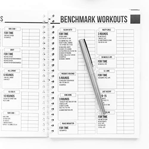 wodbook crossfit workout journal by profit wod logbook exercise