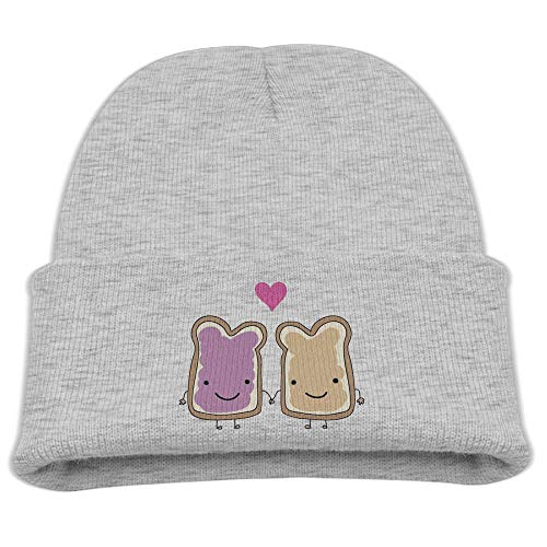 Banana King Peanut Butter and Jelly Baby Beanie Hat Toddler Winter Warm Knit Woolen Watch Cap for Kids
