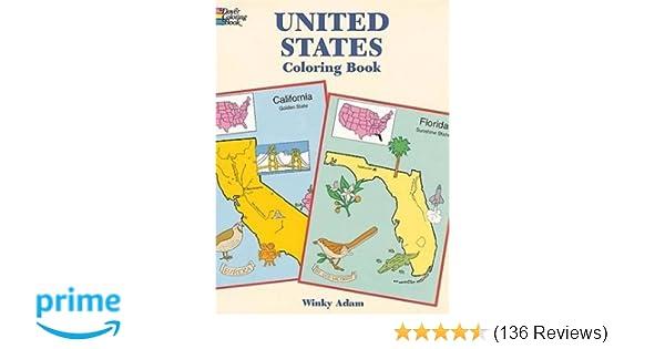 United States Coloring Book Dover History Winky Adam 0800759401680 Amazon Books