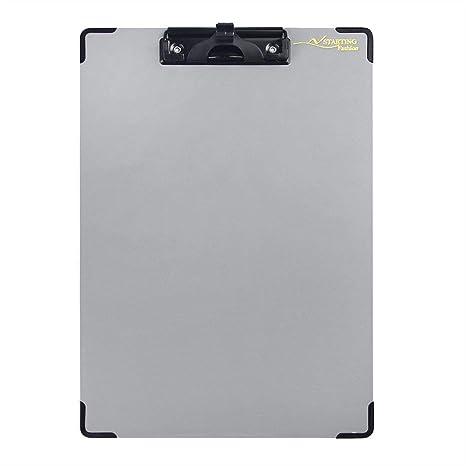 Amazon.com: Portapapeles de plástico A4 Clip de perfil ...