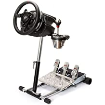 Racing Steering Wheelstand for Thrustmaster T500RS, T300RS, TX458 wheels with T3PA pedal fasteners only! Original Wheel Stand Pro Stand V2. Wheel and Pedals Not included.