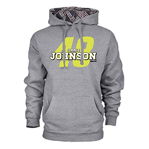 Ouray Sportswear NASCAR Hendrick Motorsports Jimmie Johnson Mens Benchmark Colorblock Pullover HoodBenchmark Colorblock Pullover Hood, Premium Heather/Flag, L