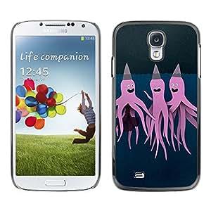 Caucho caso de Shell duro de la cubierta de accesorios de protección BY RAYDREAMMM - Samsung Galaxy S4 I9500 - Purple Pink Art Painting