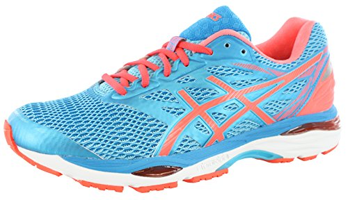 ASICS Women's Gel-Cumulus 18 Running Shoe, Aquarium/Flash Coral/Blue Jewel, 11 M US