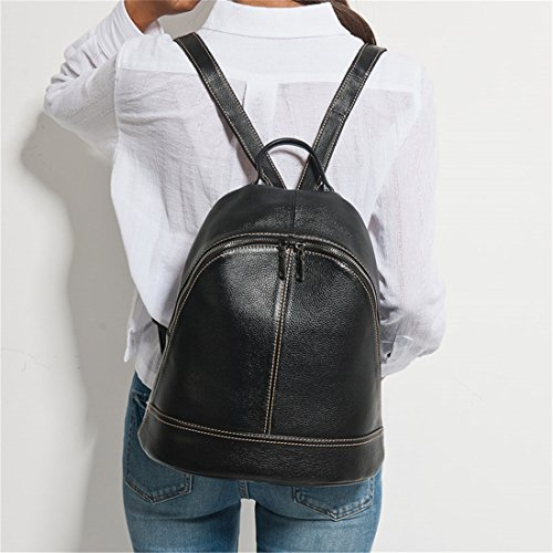 Schoolbag Style Backpacks Casual Genuine Bags Knapsack Leather Simple Army Preppy Female Green Blue Travel 100 Women Lady Light Fashion Holiday wZq6dgX4v