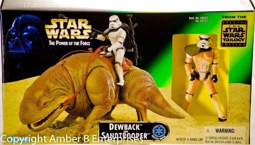 Star Wars Power of the Force Beast Pack Dewback & Sandtrooper Action Figures -