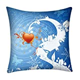 BEUU Print Pillow Case Polyester Sofa Car Cushion Cover Home Decor,45x45cm
