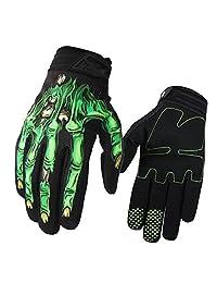 f384cdfd4eb Evaliana Skull Bone Skeleton Motocross Motocycle Motobike Cycling Riding  Gloves