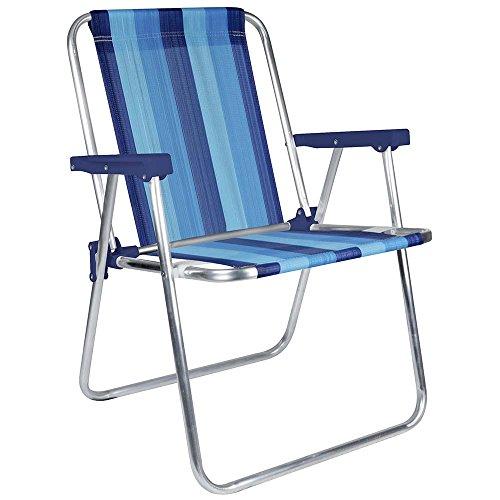 MOR Aluminum Beach Chair - 1 Position - (Pack of 1) - (Blue Variation Stripe) by MOR EUA LLC