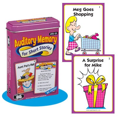 (Super Duper Publications Auditory Memory for Short Stories Fun Deck Cards Educational Learning Resource for)