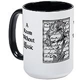 CafePress - Beethoven Large Mug - Coffee Mug, Large 15 oz. White Coffee Cup