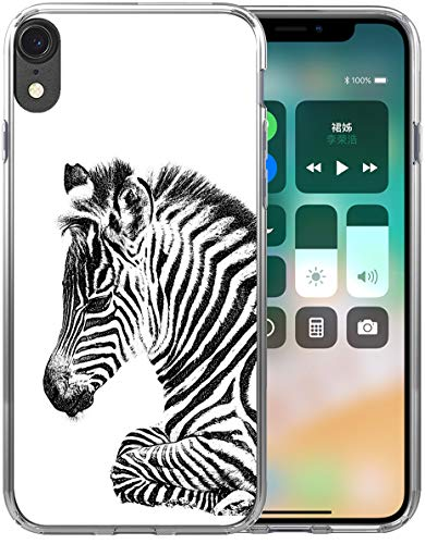 - XR Case Zebra/IWONE Designer Rubber Durable Protective Skin Transparent Cover Shockproof Compatible with iPhone XR[10R] 2018 6.1 Inches Zebra Animal